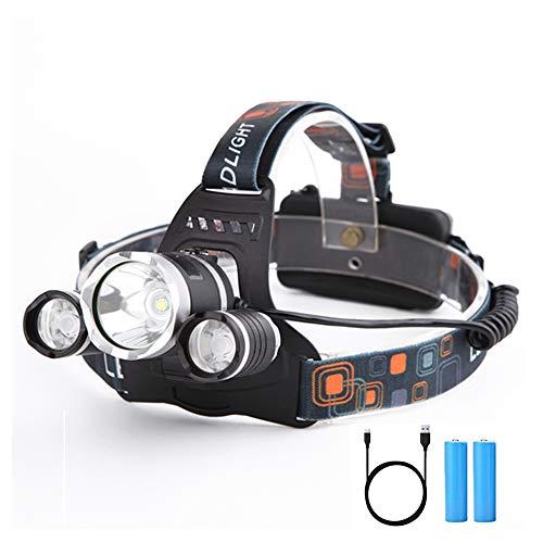Yizhet LED faro recargable super brillante luces ...