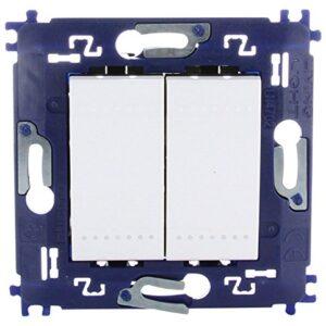 bticino 790040033 - Interruptor de doble interruptor.