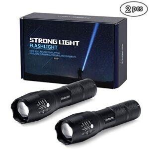 linterna LED flintronic, linterna táctica de 2 piezas, 5 modos a ...