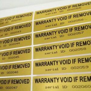stickerslab - 100 étiquettes adhésives sceaux de garantie et ...
