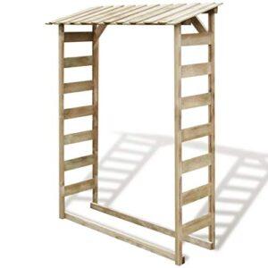vidaXL Caseta de jardín para madera Leña Pino Impregna ...