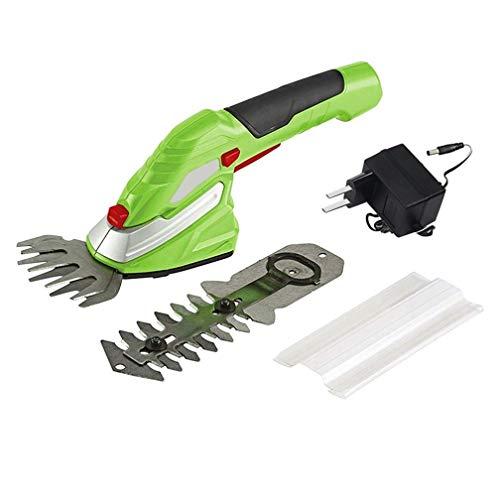 2 en 1 recargable para cortadora de césped doméstica de tijera pequeña, 3.6 ...