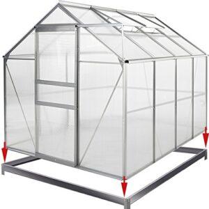 Deuba Invernadero de policarbonato transparente con claraboya ...