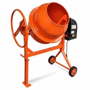 Festnight- Mezclador de concreto versátil y portátil Color de acero Naran ...
