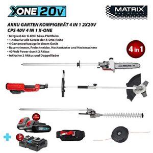Matrix 511010594 CPS 20V 4 in1 X Una batería Peine de jardín ...
