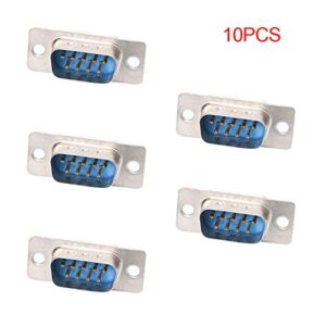 NoyoKere 10 PCS RS232 DB9 Series VGA 9 Broches Femelle 2 Rang ...