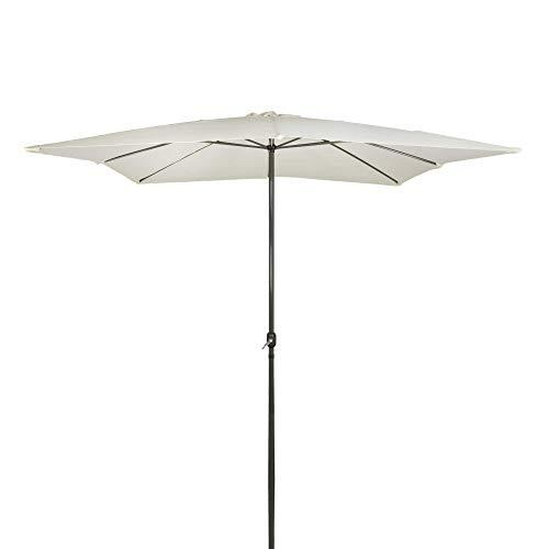 Aktive Garden 53875 Parasol Cuadrado con Mástil de Aluminio ...