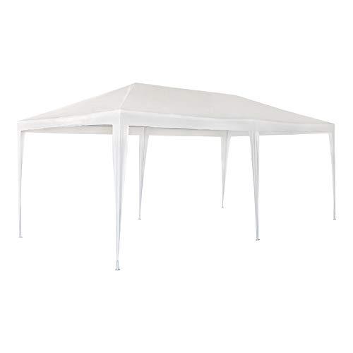 Aktive Garden 53992 - Cenador de Plástico Blanco 300 x 600 x...
