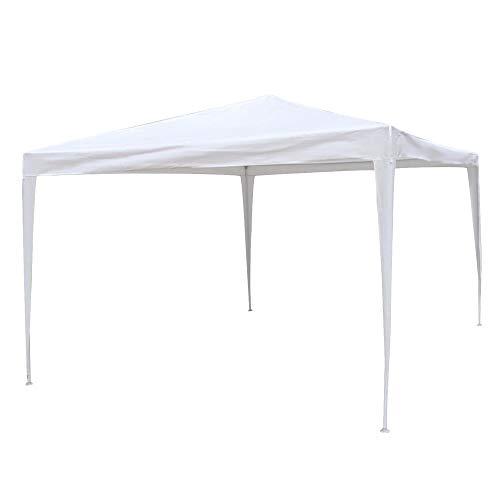 Gazebo Desmontable Blanco de Rafia plástica de 300x400 cm - ...