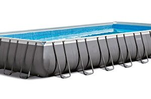 Intex Piscina Rectangular Ultra Frame, I.1, Bomba a Arena Co...