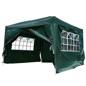 Outsunny Carpa Gazebo con Paredes Desmontables y Ventanas In...