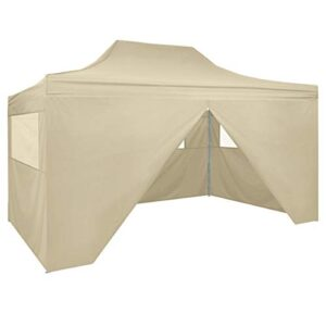 vidaXL Carpa Jardín Plegable Pop-up 4 Paredes Acero Tela Cre...
