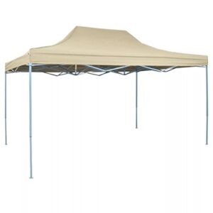 vidaXL Carpa de Fiesta Jardín Plegable Pop-up Acero Tela Cre...