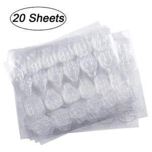 20 hojas (480 unids) Adhesivo para uñas, Kalolary Nail Art P...