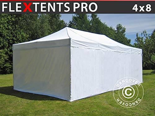 Carpa Plegable Carpa Rapida FleXtents Pro 4x8m Blanco, Incl....