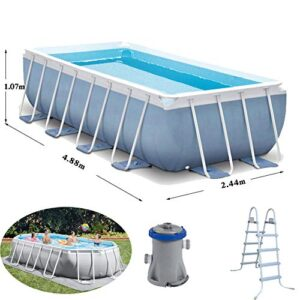 DDSGG Piscinas hinchables rectangulares 488x244x107cm Splash...