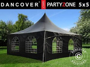 Dancover Carpa Pagoda PartyZone 5x5m, PVC, Negra
