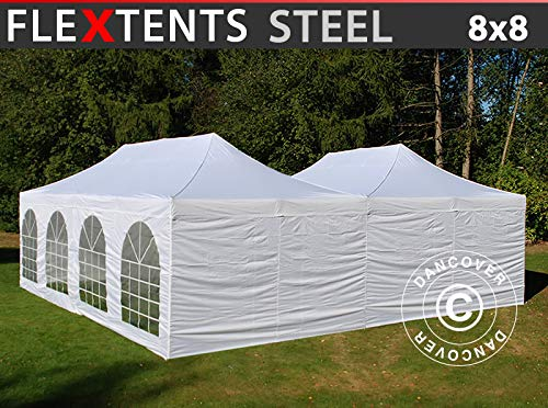 Dancover Carpa Plegable Carpa Rapida FleXtents Steel 8x8m Bl...