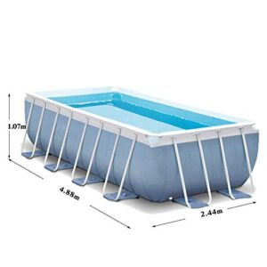 Deluxe Frame Pool Marco Prisma Piscina Set Family Pool fácil...