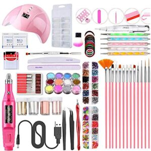 Gebuter Manicure Tool Set Nail Dryer Lamp USB Polisher Nail ...