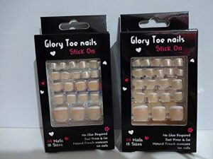 Glory Natural French Stick On Toe Nails Comprar 1 Get 1 Free...