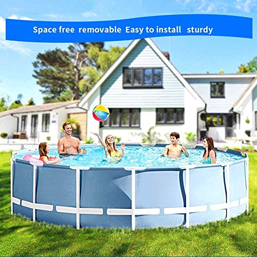 HYDDG 15ft X 48in Outdoor Family Frame Set de piscina con bo...