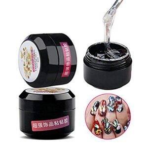 Iceblue - Pegamento adhesivo de resina para uñas (8 ml), dis...