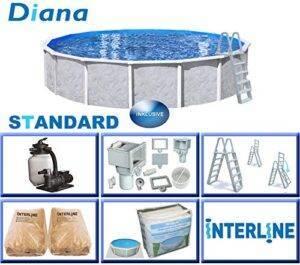 Interline 55000052Diana A y 96188Acero Pared Pool 5,50m x...
