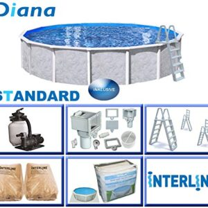 Interline 55000052 Diana A y 96188 Acero Pared Pool 5,50 m x...