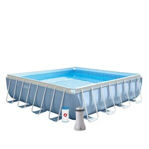 Intex 26764NP Piscina desmontable cuadrada, on depuradora, 4...