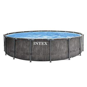 Intex - Kit de Piscina Tubular Baltik 5M49 x 1M22, Color Gri...