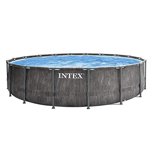 Intex - Kit de Piscina Tubular Baltik 5M49 x 1M22, Color Gri...