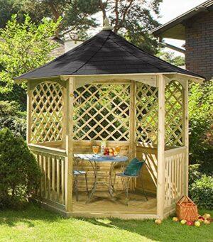 """Jardín Verde - Quiosco Hexagonal """"Winchester"""" de Madera con ..."""