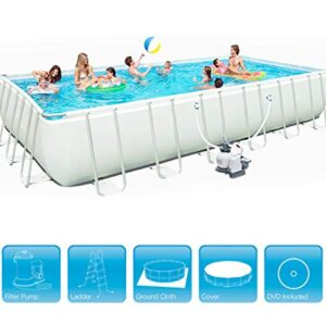 Marco de metal rectangular Piscina Centro de natación Jardín...