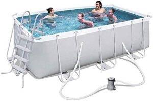 Piscina Central de natación Familiar con Bomba de Filtro Mar...