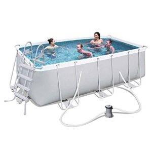 Piscina central de natación familiar con bomba de filtro, pi...