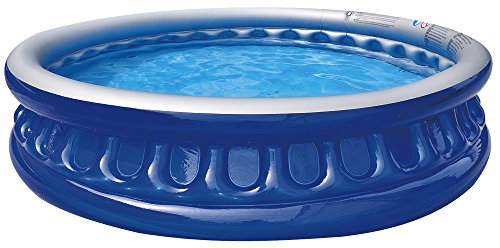 Saica Piscina Hinchable Redonda, Color Azul y Blanco (17395)