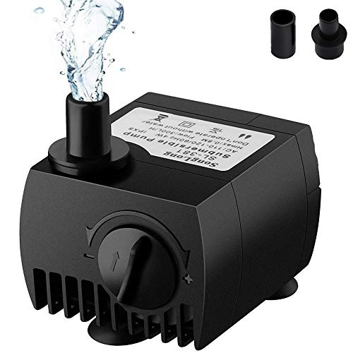 SeeKool Mini Bomba de Agua Ultra Silencioso 300L/H Submersib...