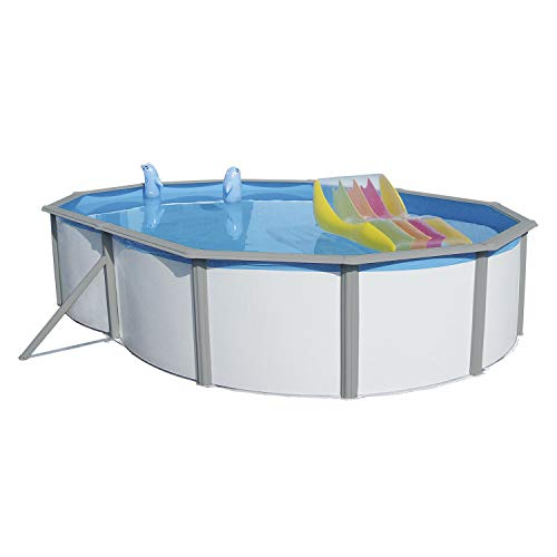 Steinbach Acero Pared Pool Set Nuovo de Luxe Duo Ovalado, Co...