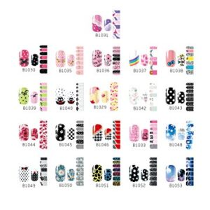 Westeng 14 pcs 3D Mixed Color Pegatinas de Uñas Nail Art Man...