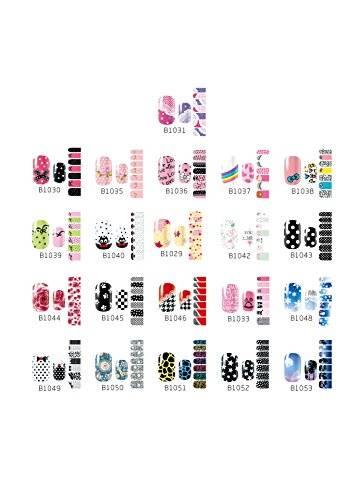 Westeng 14 pcs 3D Mixed Color Pegatinas de Uñas Nail Art Man...