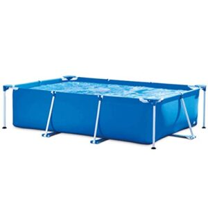 ZDW Rsein rectangular Pipe Rack de piscina, piscina familiar...
