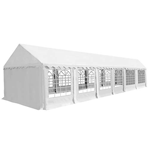 vidaXL Carpa de Jardín de PVC 6x12m Blanco Pabellón Cenador ...